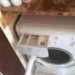 4.a washing machine after cleaning