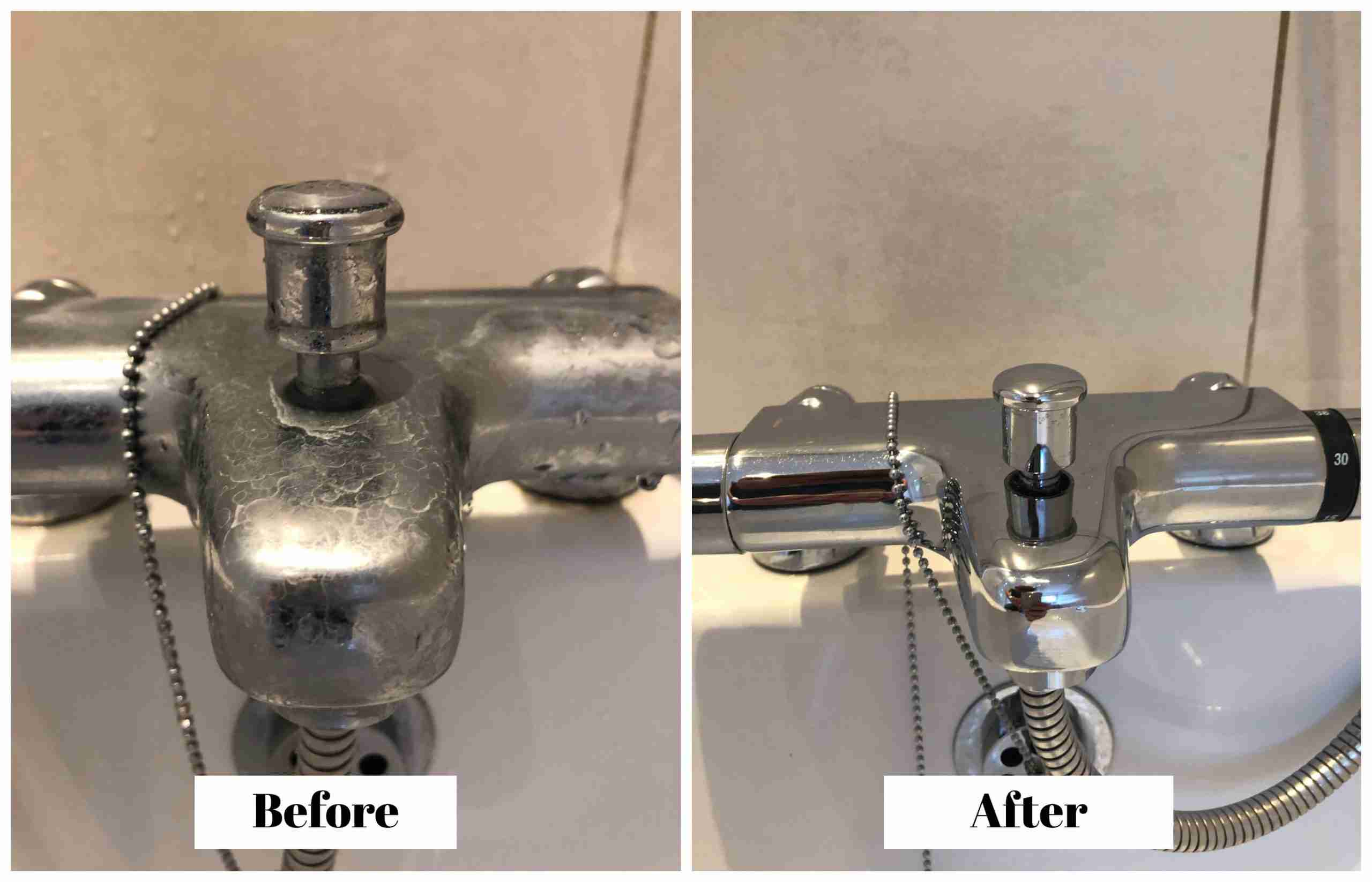 Bath tap cleaning/descaling